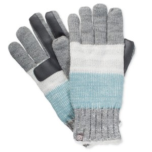Isotoner Blurred Stripe Knit smarTouch Tech Gloves O/S