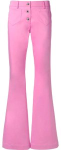 Moschino New Flare Retro Boot Cut Pants Pink
