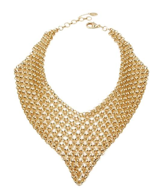 Item - Gold Stunning Statement Cleopatra Style Millions Of Links Bib New Necklace
