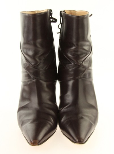 97bf8b78c4d85 Manolo Blahnik Brown Leather Mid-calf Boots/Booties Size EU 38.5 ...