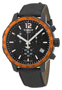 Tissot Quickster Chronograph Date Dial Men's Leather Watch