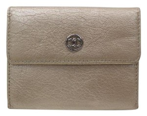 Chanel Chanel Coin Purse Metallic Leather