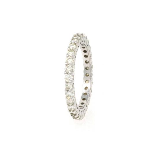 Preload https://img-static.tradesy.com/item/24342044/white-gold-14k-eternity-size-45-100-ct-ring-0-0-540-540.jpg