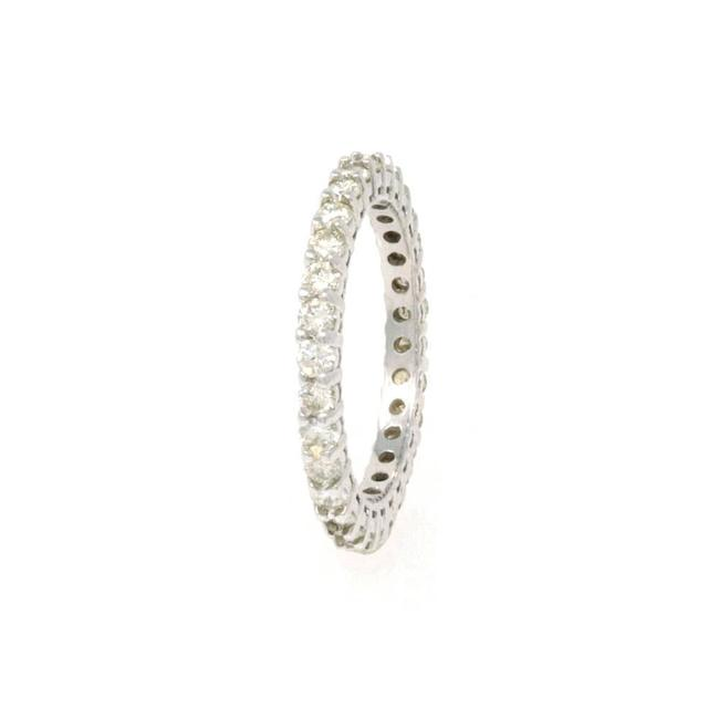 Handmade White Gold 14k Eternity Size 4.5 (1.00 Ct) Ring Handmade White Gold 14k Eternity Size 4.5 (1.00 Ct) Ring Image 1