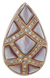 N/A Mother-of-Pearl & .12ctw Diamonds Pendant