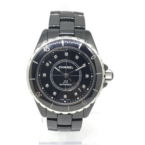 Chanel CHANEL J12 BLACK CERAMIC W DIAMOND DIAL Automatic Unisex Watch H1996