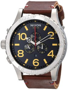 Nixon Nixon Men's 51-30 Chronograph Stainless Steel Watch with Leather Band