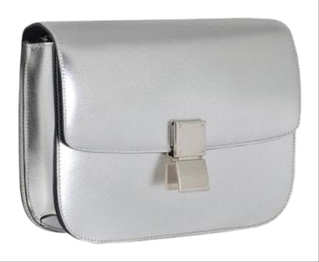 Item - Classic Box Medium (Rare) - New In Silver with Black Interior Leather Shoulder Bag