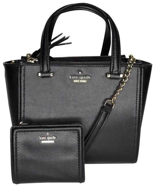 Kate Spade Patterson Drive Mini Kona and Matching Small Shawn Wallet Black Leather Shoulder Bag Kate Spade Patterson Drive Mini Kona and Matching Small Shawn Wallet Black Leather Shoulder Bag Image 1