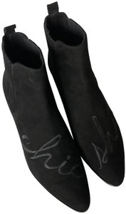 Modern Vice Suede Embroidery Chelsea Black Boots