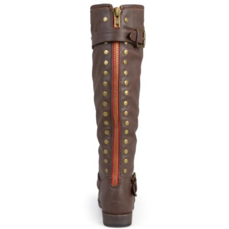 2d75c3cb442f Journee Collection Brown Spokane Wide Calf Riding Boots Booties Size ...