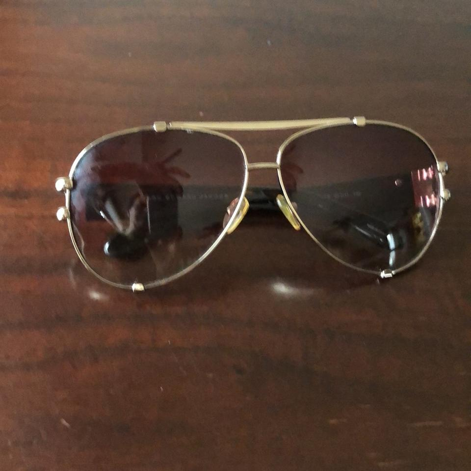 3acb166fd10 Marc by Marc Jacobs Black Brown Gold Gold Brown Aviators Sunglasses ...