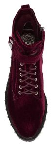 Vince Camuto Combat Studded Leather wine Boots