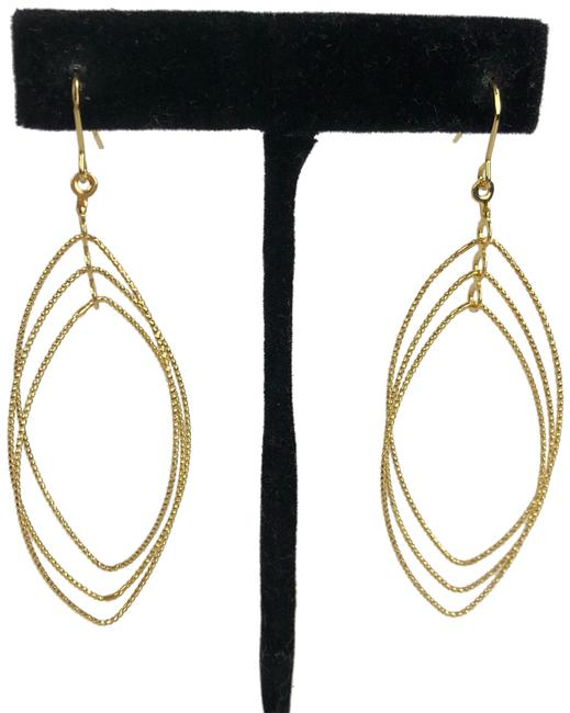 Item - Gold Sparkly Dangle Earrings