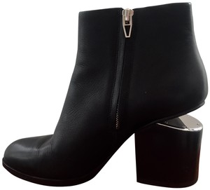 Alexander Wang Classic Winter Party Silver Hardware Black Boots