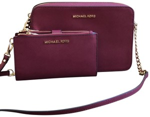 Michael Kors 2pcs Set Leather Cross Body Bag