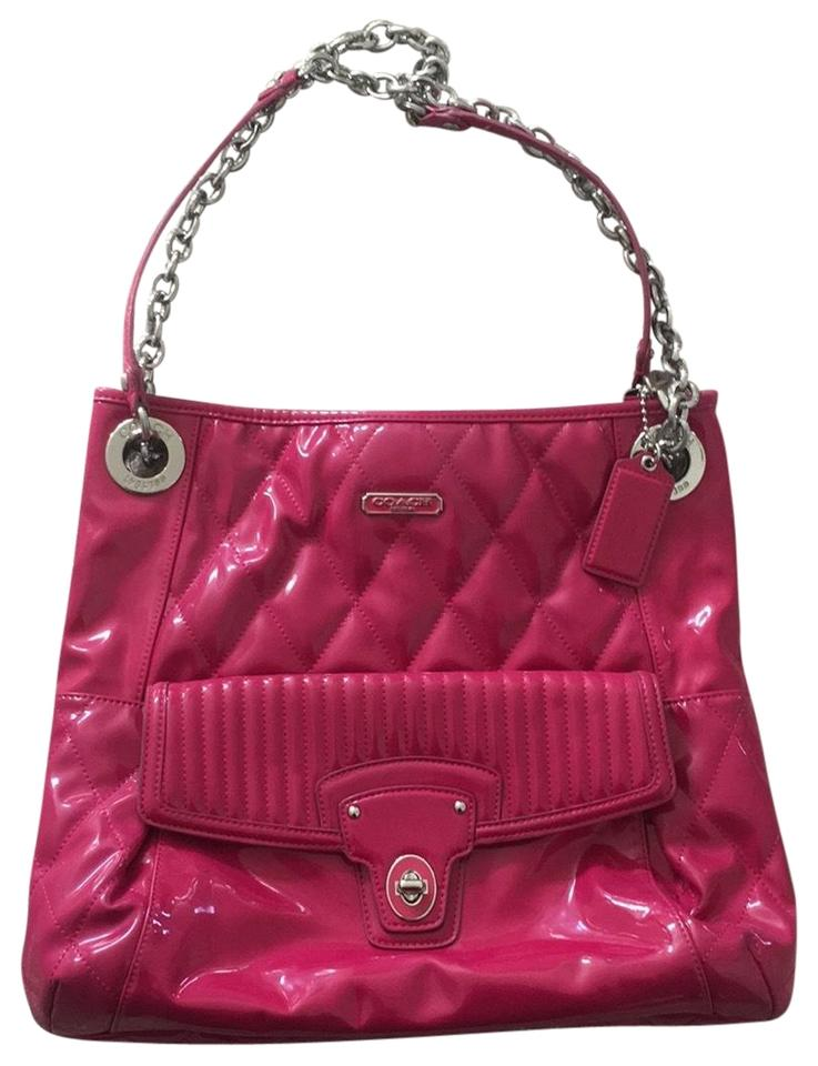 17dead18b2eb Coach Patent Hot Pink Leather Hobo Bag - Tradesy