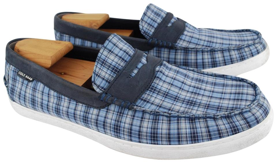 78c3b3f11c8 Cole Haan Blue Grand Os Men s Plaids Penny Loafers Flats Size US 13 ...