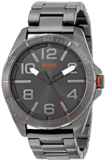 Preload https://img-static.tradesy.com/item/24342963/hugo-boss-gray-orange-men-s-1512999-berlin-grey-tone-stainless-steel-watch-0-0-540-540.jpg
