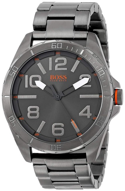 Hugo Boss Gray Orange Men's 1512999 Berlin Grey-tone Stainless Steel Watch Hugo Boss Gray Orange Men's 1512999 Berlin Grey-tone Stainless Steel Watch Image 1