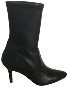 Stuart Weitzman Sock Black Leather Boots