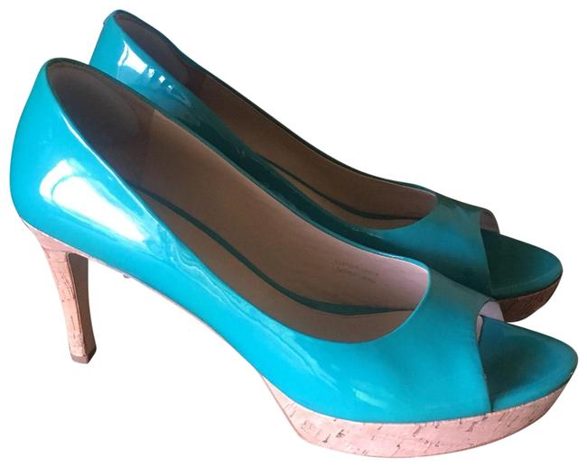 Via Spiga Teal Platforms Size US 10 Regular (M, B) Via Spiga Teal Platforms Size US 10 Regular (M, B) Image 1