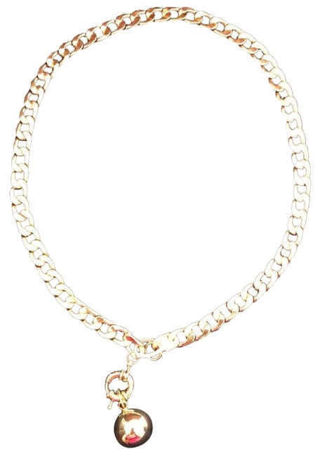 Gold Linked Charm Necklace Gold Linked Charm Necklace Image 1