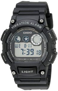 Casio New without tags Casio Men's Super Illuminator Watch Black Resin Band