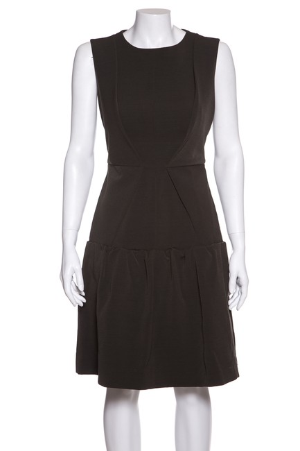 Preload https://img-static.tradesy.com/item/24343204/sportmax-olive-crew-neck-pleat-detail-short-casual-dress-size-6-s-0-0-650-650.jpg