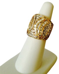 Bold Cigar Band Cubic Zirconia Ring, Size 6.5