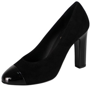 Chanel Cap Toe Suede Made In Italy Black Pumps