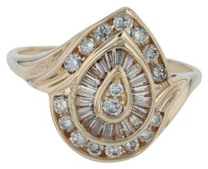 N/A 1ctw Diamond Cluster Cocktail Ring - 14k Size 11.75 Bypass