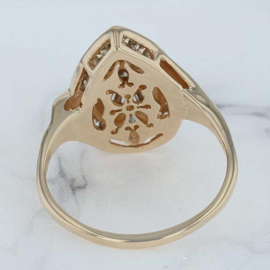 N/A 1ctw Diamond Cluster Cocktail Ring - 14k Size 11.75 Bypass Image 2