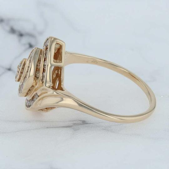 N/A 1ctw Diamond Cluster Cocktail Ring - 14k Size 11.75 Bypass Image 3