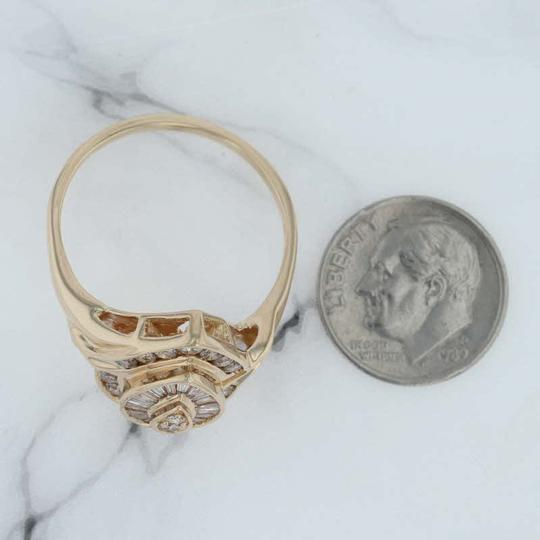 N/A 1ctw Diamond Cluster Cocktail Ring - 14k Size 11.75 Bypass Image 4
