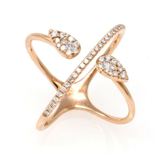 Preload https://img-static.tradesy.com/item/24343280/gold-14k-rose-intricate-diamond-band-038-ct-size-6-ring-0-0-540-540.jpg