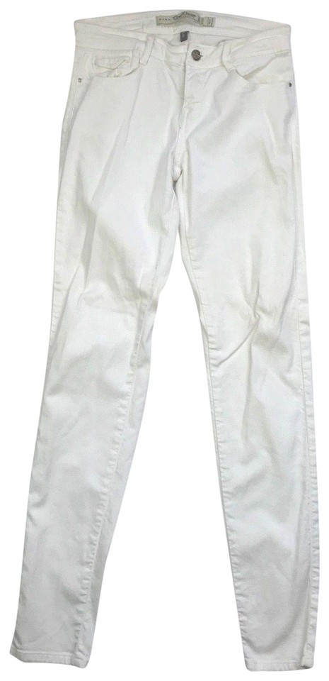fb28bfb5bb Zara White Slim Jeans Women Off Denim Stretch Pants Size 4 (S, 27) 86% off  retail