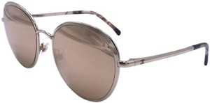 Chanel Chanel Round 18K Gold Mirrored Sunglasses 4206 c.395/T6 ITALY