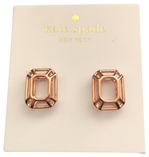 Kate Spade Rose Gold Hallow Post Earrings Kate Spade Rose Gold Hallow Post Earrings Image 1