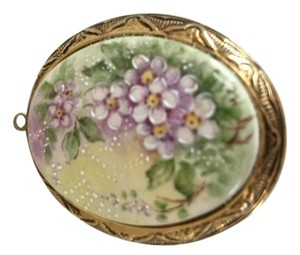Vintage hand-painted and signed locket