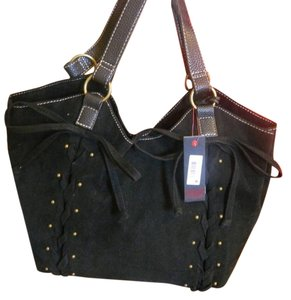 Marc Ecko Faux Suede Tote in Black