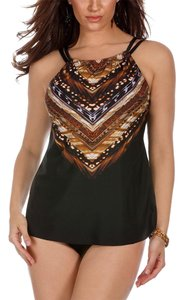 Miraclesuit Miraclesuit Women's Skin Within Shoreline Tankini Top Black