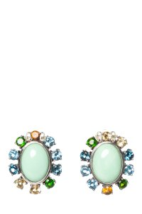 Stephen Dweck STEPHEN DWECK Multi Color Sterling Clip Earrings