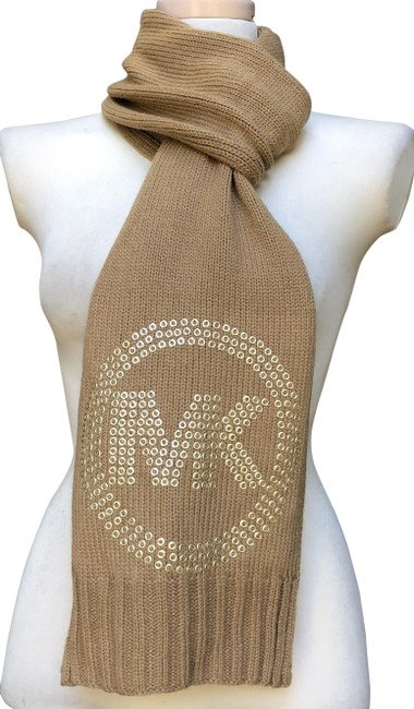 MICHAEL Michael Kors Scarf Brown Sweater MICHAEL Michael Kors Scarf Brown Sweater Image 1