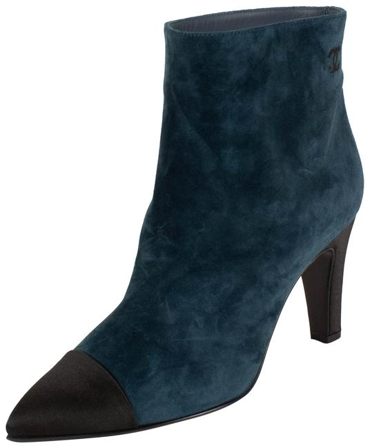 Chanel Blue Suede Calfskin Cap Toe Boots/Booties Size EU 36.5 (Approx. US 6.5) Regular (M, B) Chanel Blue Suede Calfskin Cap Toe Boots/Booties Size EU 36.5 (Approx. US 6.5) Regular (M, B) Image 1