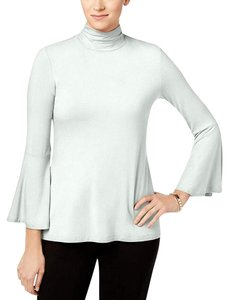 Alfani Neck Bell Sleeve Top Soft White