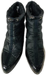 Fioni Thermal Faux Patent Black Boots