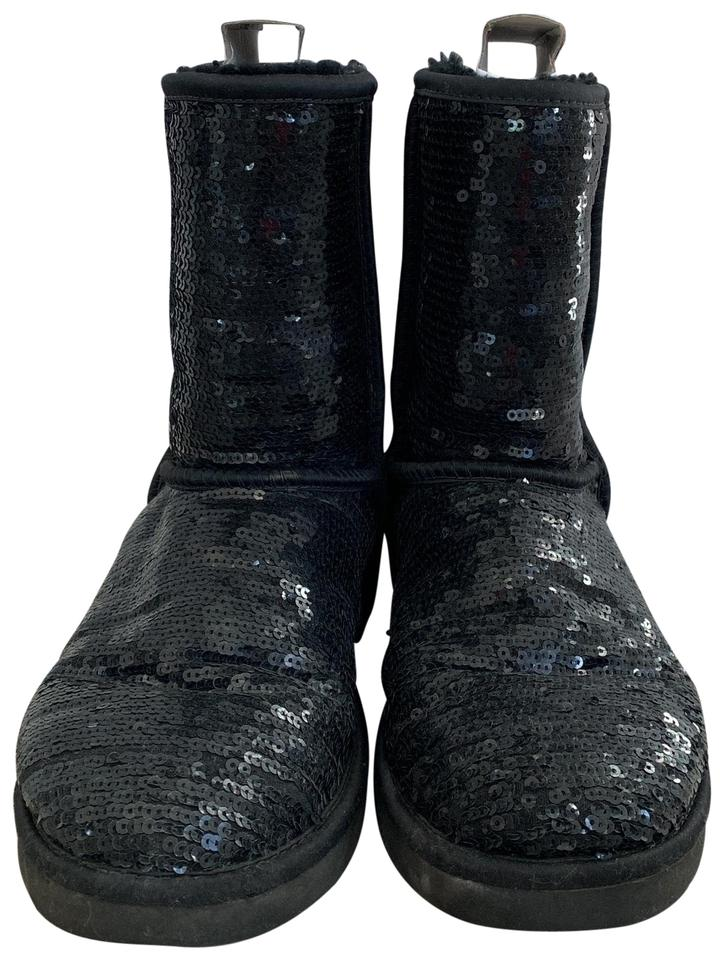 733b5fc5fbb UGG Australia Black Sequined Uggs Boots/Booties Size US 8 Regular (M, B)