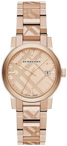 Burberry Burberry BU9146 Swiss Made The City Rose Gold-Tone Ladies Watch NWT