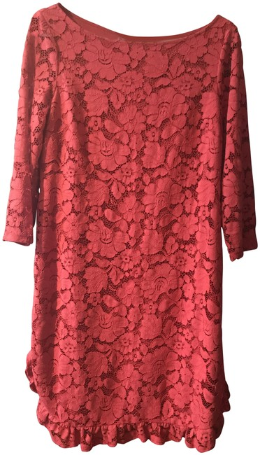 Item - New Red Lace Mid-length Night Out Dress Size 10 (M)